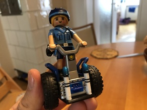 Flashing lights and stand for Playmobil Segway police scooter