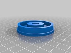 Hatchbox filament spool holder with 608zz bearing