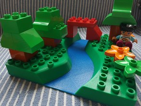 Duplo baseplate with a river