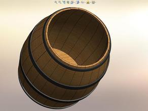 100mm tall Barrel Stave ...