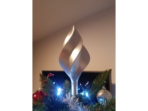 Spiralize christmas tree topper