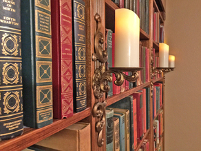 Wall Sconce Candelabra (LED candles ONLY!)