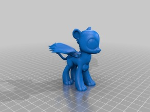 MLP style female Sphinx blank with her wings spread open (busty)