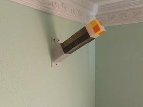 Minecraft torch wallmount