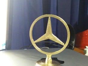 Mercedes-Benz Logo  Hood Ornament (Two Part)