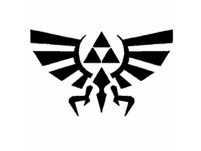 Hyrule Logo stencil