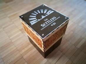 Settlers storage box (laser-cutter & 3d printing)