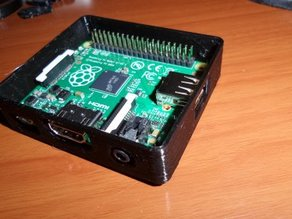 Enclosed case for Raspberry Pi model A+