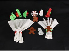 Napkin Rings for Christmas and New Year's Eve