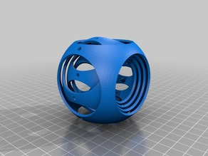 Gyro Cube for SLA Printers (rotated layers for easier printing)