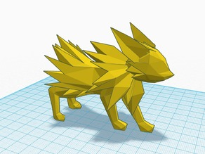Pokemon - Jolteon - LowPoly (1 or 2 parts) We3dUk