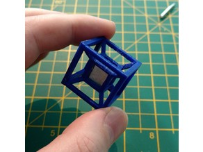 Hypercube/Tesseract frame for 1cm Tungsten Cube