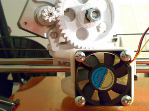 Double ducted for fan 50mm. and hotend J-Head MK-V