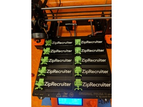 ZipRecruiter 3D Logo Placard