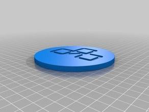 Let's Play Logo Coaster
