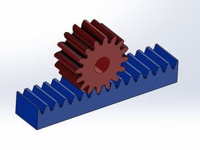 Rack and Pinion Gear Set Example