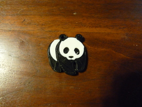 Panda keychain for single extruder
