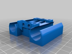 X-Carriage with 16mm-Bushing-Holder for Polymer-Bushings