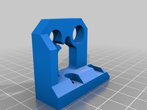 Prusa i3 Z axis upper mounts with 5mm threaded rod top bush hole