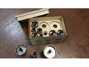 Laser Cut: Hole saw box