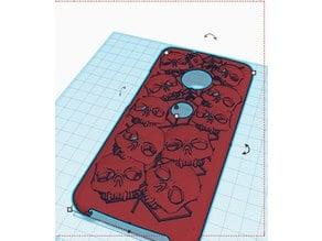 moto g5plus case skulls