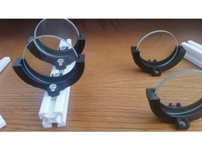 Freestanding or T-slot lens holder for 50mm lenses