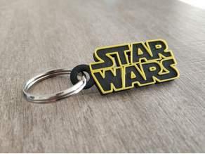 Star Wars logo keychain