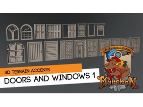 Doors and windows terrain kitbash kit