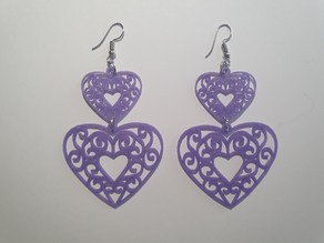 Earring Heart Duo