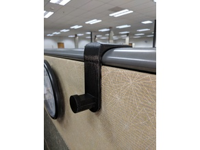 Cubicle hook for ellipsed-top wall