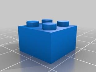 Lego® Block's 2x2, 3x2, 4x2, 6x2