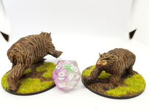 Owlbear for 28mm tabletop gaming