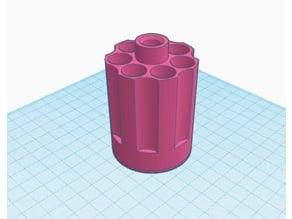 Nerf Hammershot 7 Dart Cylinder - vertical cylinder; smaller spinner