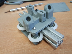 G-slot carriage for delta printer