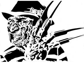 Freddy Krueger Stencil 2