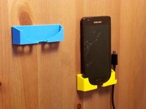 Customizer phone wall mount dock