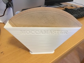 Coffee filterholder with Moccamaster logo