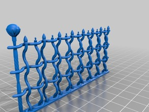 Wrought Iron Fence (28mm scale)