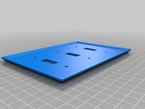 My Customized WALLY - 3 Switch Wall Plate