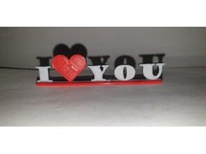 I love you Schriftzug Deko hinsteller Ich liebe Dich Herz heart