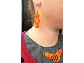 Spherical Chords Earrings & Necklace