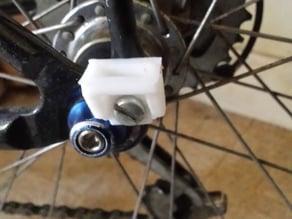 Bike pannier hook point