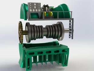 Toy Steam Turbine (High Detail)