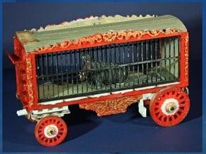 Circus Pigmy Hippo Cage Wagon Kit