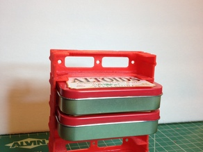 Modular Altoids Tin Storage Rack
