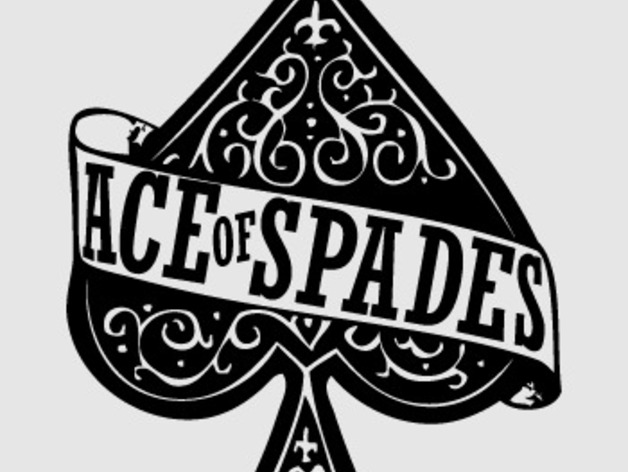 ace of spades logo by 1oepalsalaminas thingiverse. Black Bedroom Furniture Sets. Home Design Ideas