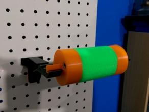 Modified Pegboard Spool Holder With Pegboard Bracket Spacers