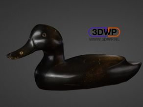Vintage Duck Decoy 3D Scan