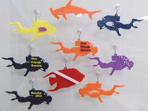 SCUBA Ornaments