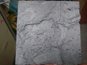 Japan sea floor map, bathymetric Data around Japan